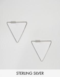 Серебряные серьги треугольной формы Kingsley Ryan - Серебряный