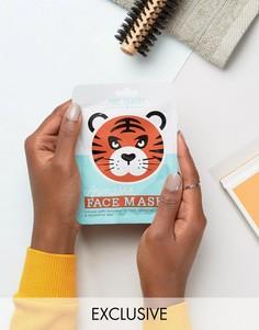 Листовые маски для лица в виде животных - тигр - Бесцветный Beauty Extras