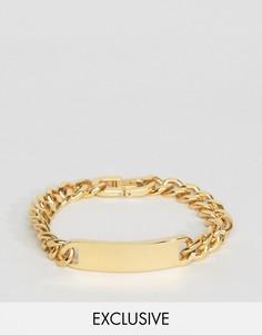 Идентификационный браслет-цепочка золотистого цвета Seven London эксклюзивно для ASOS - Золотой
