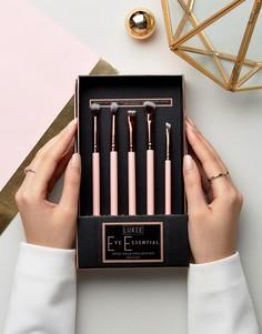 Набор из 5 кистей цвета розового золота для макияжа глаз Luxie - Бесцветный