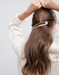 Золотистая заколка для волос ASOS - Медный