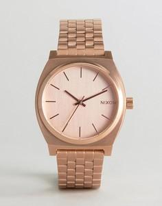 Золотисто-розовые часы-браслет Nixon Time Teller - Золотой