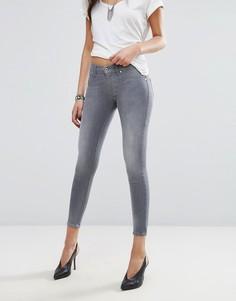 Зауженные укороченные джинсы длиной до щиколотки Diesel Livier - Серый