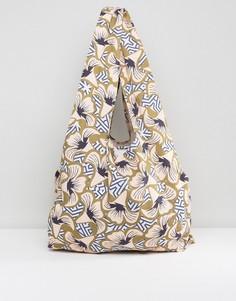Сумка с геометрическим и цветочным принтом ASOS Made In Kenya - Мульти