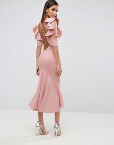 Платье миди ASOS PREMIUM - Розовый