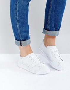 Белые кроссовки adidas Originals Stan Smith Lea Sock - Белый
