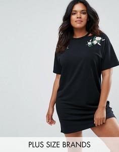 Платье-футболка Boohoo Plus - Черный