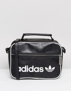Черная маленькая сумка в винтажном стиле Adidas Originals - Черный
