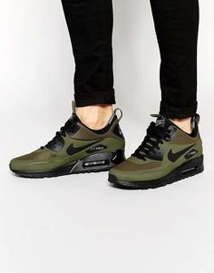 Зимние кроссовки средней высоты Nike Air Max 90 806808-300 - Черный