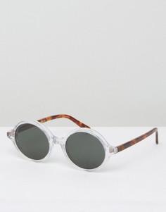 Круглые солнцезащитные очки в прозрачной оправе Han Kjobenhavn - Прозрачный