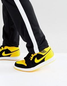 Черные кроссовки средней высоты Nike Air Jordan 1 554724-035 - Черный