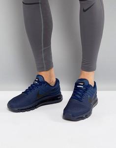 Синие кроссовки Nike Running Air Max 2017 849559-405 - Синий