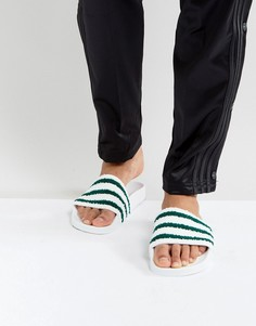 Белые шлепанцы adidas Originals Adilette BB0124 - Белый