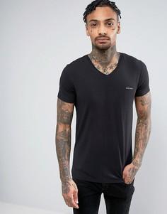 Черная футболка с V-образным вырезом Diesel - Черный