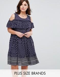 Платье с оборками Diya Plus - Синий