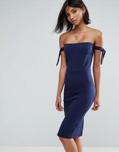 Платье-футляр с открытыми плечами Unique21 - Темно-синий