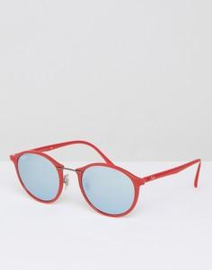 Солнцезащитные очки в круглой оправе Ray Ban - Красный