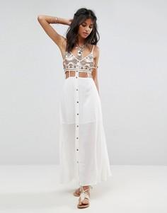 Платье макси с вырезами Raga Taos - Кремовый