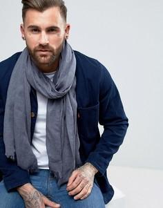 Легкий шарф-накидка из ткани под деним ASOS - Синий