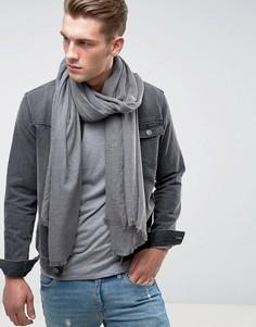 Серый легкий шарф-накидка из меланжевой ткани ASOS - Серый