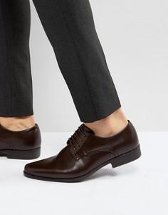 Коричневые туфли дерби ASOS - Коричневый