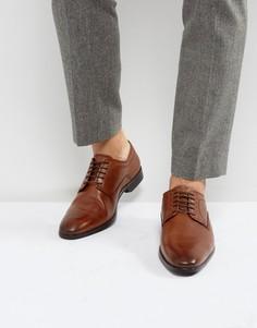 Коричневые кожаные туфли дерби ASOS - Рыжий