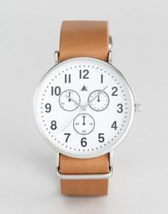 Часы в винтажном стиле с кожаным ремешком ASOS - Коричневый