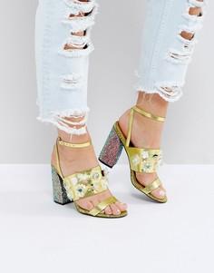 Босоножки на высоком каблуке с декоративной отделкой ASOS HOLLA - Мульти