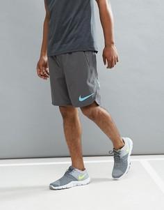Серые шорты из дышащей и эластичной ткани Flex Nike Training 833374-038 - Серый