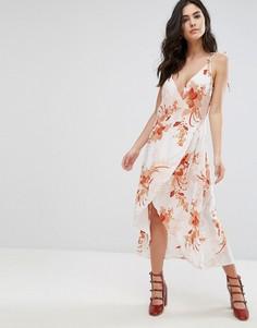 Платье с запахом и цветочным принтом Mink Pink Lolita - Мульти