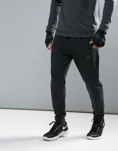 Черные флисовые брюки Nike Training Dri-FIT 742212-010 - Черный