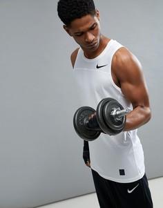 Белая компрессионная майка Nike Training Pro 828160-100 - Белый