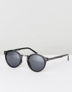 Черные круглые солнцезащитные очки в винтажном стиле ASOS - Черный