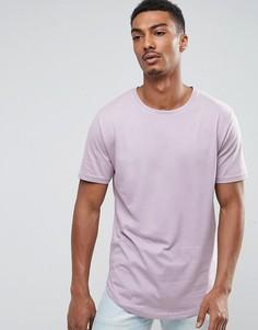 Длинная футболка Troy - Фиолетовый