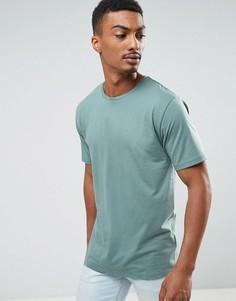 Меланжевая футболка Troy - Зеленый
