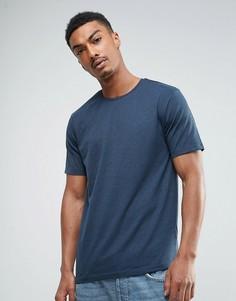 Меланжевая футболка Troy - Темно-синий