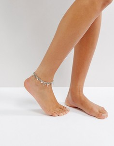 Металлический браслет на ногу Pieces - Золотой