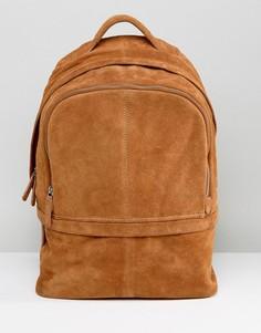 Светло-коричневый замшевый рюкзак ASOS - Рыжий