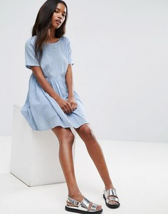 Фактурное повседневное свободное платье ASOS - Синий