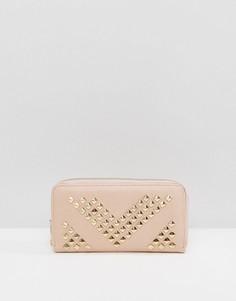 Кошелек с заклепками Yoki Fashion - Розовый