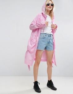 Парка-дождевик с люверсами по бокам ASOS - Розовый