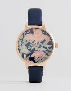 Часы с циферблатом с цветочным узором New Look - Синий