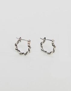 Серьги-кольца с серым покрытием ASOS - Серебряный