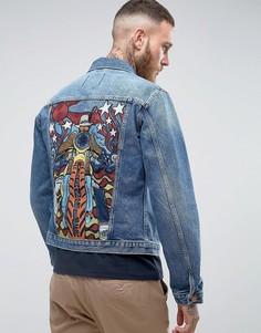 Куртка в стиле ретро Wrangler - Синий