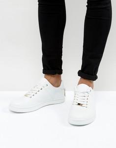 Белые кроссовки со шнуровкой и золотистой отделкой ASOS - Белый