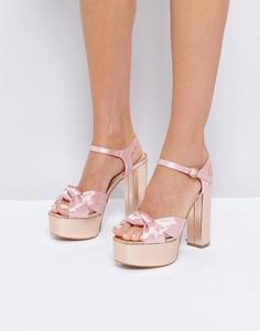 Босоножки на высокой платформе Glamorous - Розовый