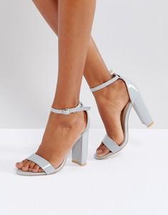 Босоножки на блочном каблуке Glamorous Barely There - Серый