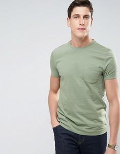 Зеленая футболка с карманом ASOS - Зеленый