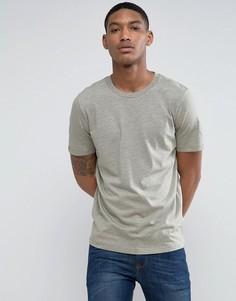 Меланжевая футболка Selected Homme - Зеленый