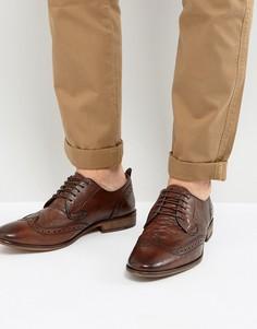 Туфли броги на шнуровке Steve Madden Analog - Коричневый